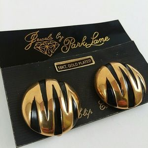 Vintage 18k Gold Plated Clip On Earrings
